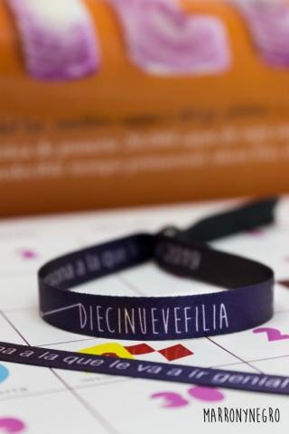"""Pack Calendario y pulsera 2019 """"diecinuevefilia"""""""