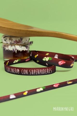 Pulsera Cociner@ con superpoderes