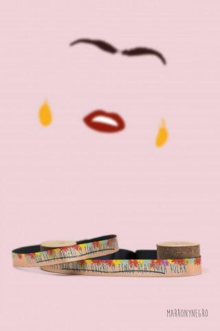 """Pulsera Frida Kahlo - """"Pies, para qué los quiero si tengo alas para volar"""""""