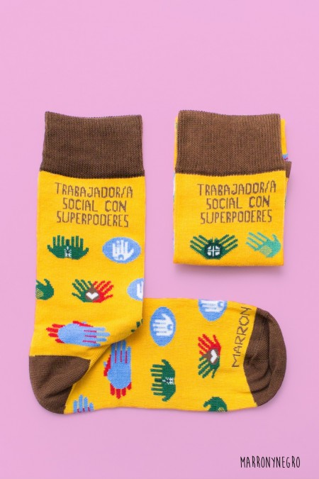 Calcetines Trabajador/a Social con superpoderes