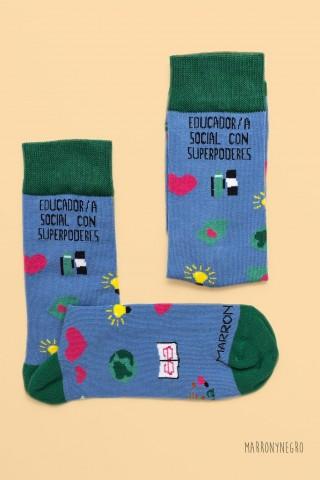 Calcetines Educador/a Social con superpoderes