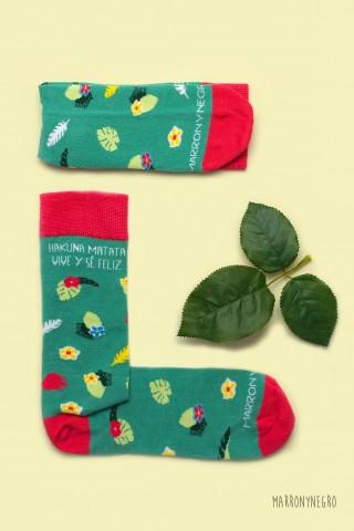 Calcetines para hombre o mujer Hakuna Matata - Vive y sé feliz.