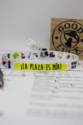 """Pulsera """"La plaza es mía"""""""