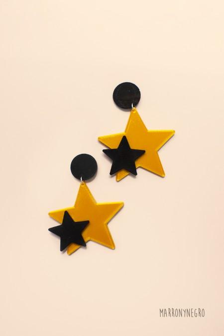 Pendientes 3D Estrella. Idea de regalo