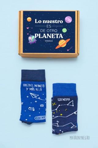 Calcetines con dibujos originales. Pack con dos calcetines.