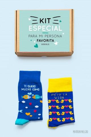 Pack de 2 calcetines con diseños únicos. Hechos en españa