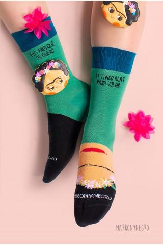 """Calcetines Frida Kahlo - """"Pies, para qué los quiero si tengo alas para volar"""""""