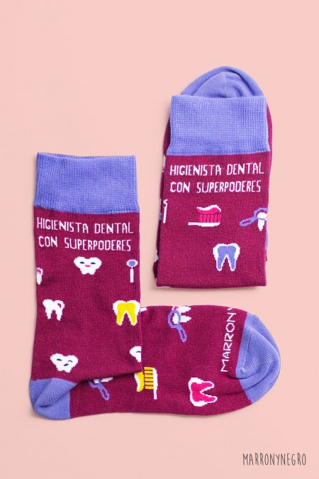 Calcetines con diseño original para Higienista Dental