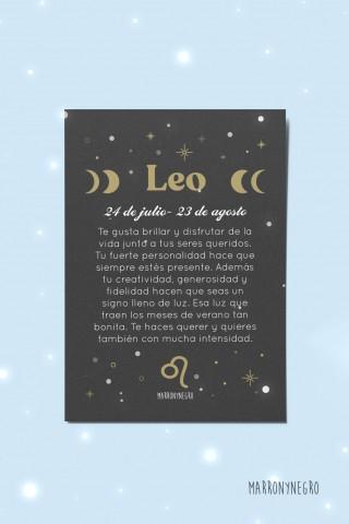 Postal Horóscopo Leo. Idea de regalo zodiacal