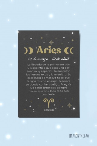 Postal Horóscopo Aries. Idea de regalo