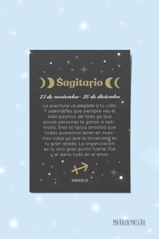 Postal Horóscopo Sagitario. Regalo original con signos del zodíaco
