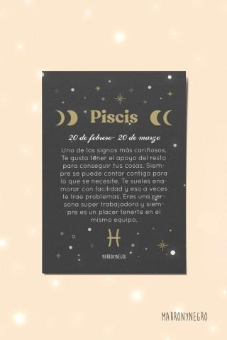 Postal Horóscopo Piscis. Idea de regalo