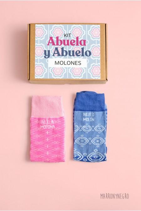 Pack de regalo para abuelos. 2 calcetines para hombre y mujer