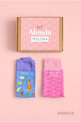 """Pack 2 calcetines para mujer con mensaje """"abuela molona"""""""