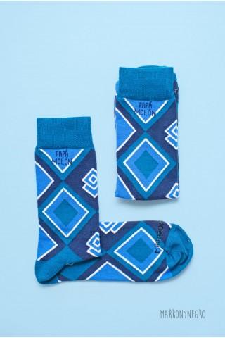 """Calcetines para hombre con diseño original """"Papá molón"""""""