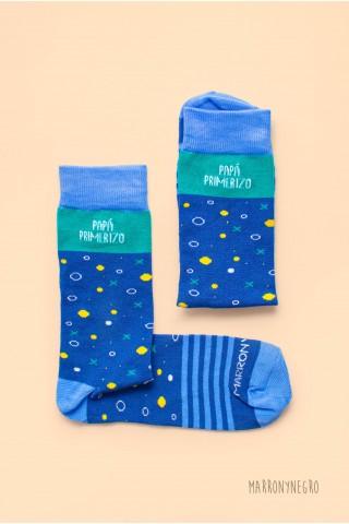 """Calcetines para hombre con dibujos y mensaje original """"papá molón"""""""