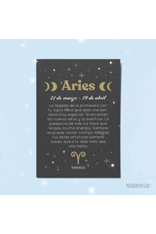 Tarjeta horóscopo aries