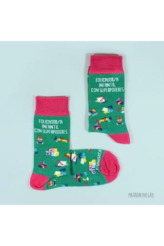 Calcetines con dibujo y diseño original para educadores