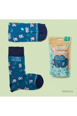 Calcetines con diseño original. idea de regalo para estudiantes