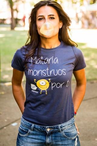 Camiseta Mataría Monstruos...