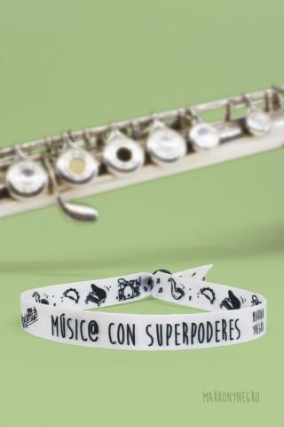 Pulsera Músic@ con superpoderes