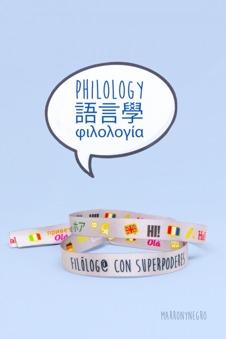 Pulsera Filólogo/a con superpoderes