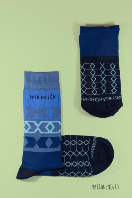 Calcetines Papá Molón - Azul