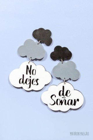 """Pendientes 3D """"No Dejes De Soñar"""""""