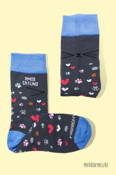 Calcetines Amor Gatuno